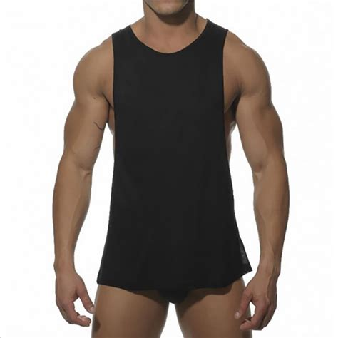 Fashion Cotton Tank Tops Bodybuilding Sleeveless Workout Fitne compare prices on black shirts shopping buy