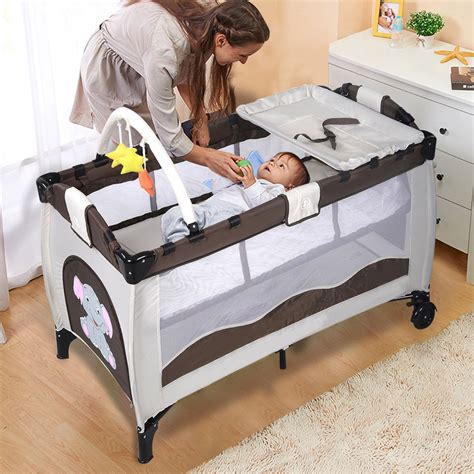 portable infant bed portable baby crib playpen playard pack travel infant