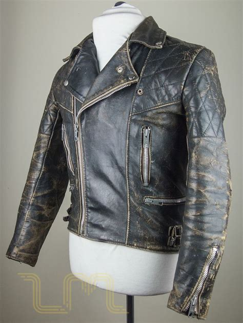 classic leather motorcycle jackets vintage motorcycle city leather biker jacket with patina