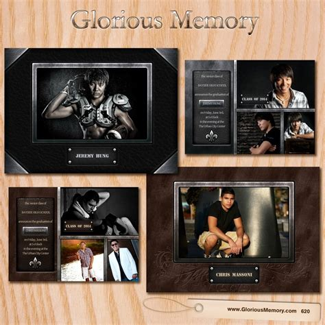 graduation templates for photoshop graduation announcement invitation card template seniors