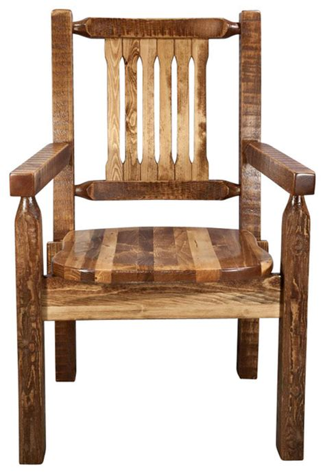 Wooden Captains Chairs by 18 Quot Wooden Captains Chair Rustic Dining Chairs By