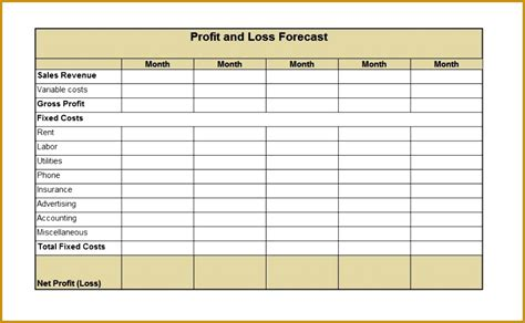 6 profit and loss report template fabtemplatez