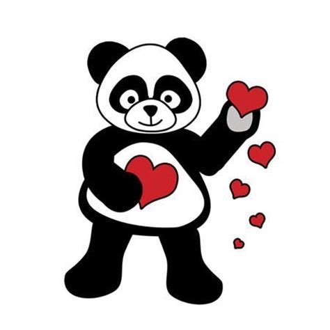 Love Panda Hearts Personalized Valentines Cards for Kids