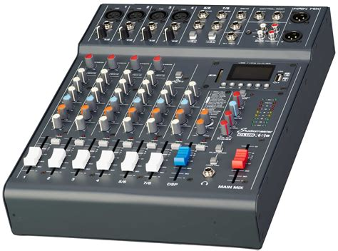 Stereo Master Mixer studiomaster club xs 8 8ch mixer with mp3 sd usb bluetoooth playback at audio works