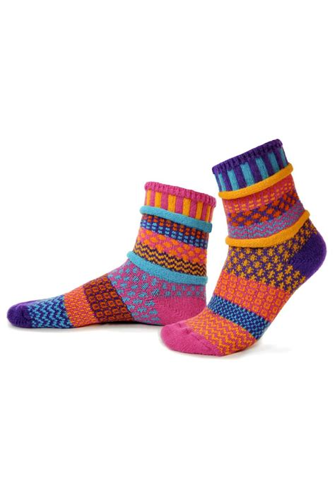 solmate socks mismatched socks carnation from michigan by