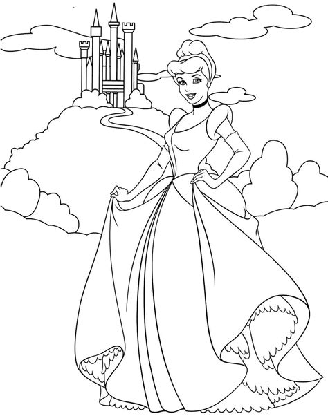 cinderella cartoon coloring pages disney princess coloring pages cinderella coloring home