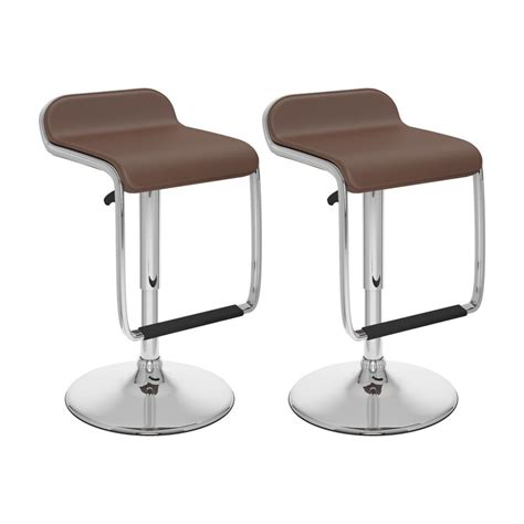 corliving b 632 vpd adjustable bar stool with footrest in