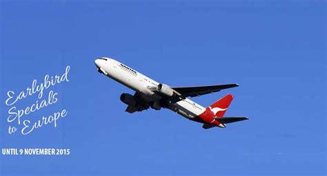 qantas earlybird special cheap flights to europe