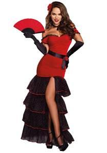 Female Halloween Costumes Women S Flamenco Dancer Costume