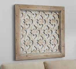Carved Wood Wall Decor by Hempstead Carved Wood Wall Panel Pottery Barn