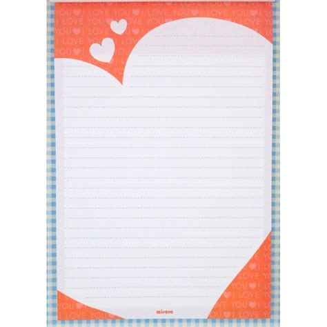 Letter Pad Letter Pad Pattern Hearts On Green