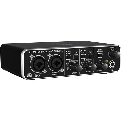 Behringer Audio Interface behringer u phoria umc202hd usb 2 0 audio interface umc202hd