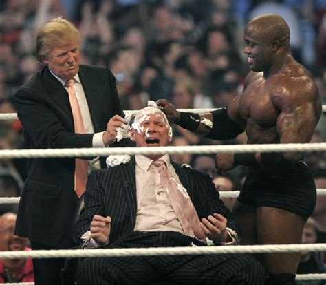 donald trump di wwe vince mcmahon in wwe presents wrestlemania 23 zimbio
