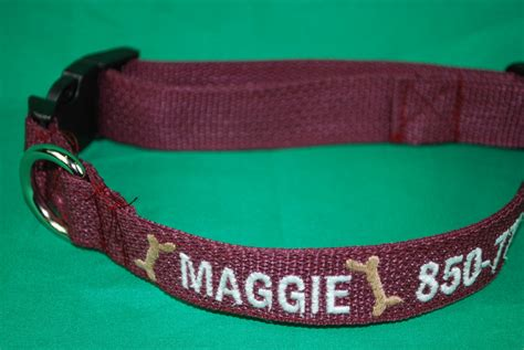 collar with name embroidered personalized embroidered collar with embroidered name and