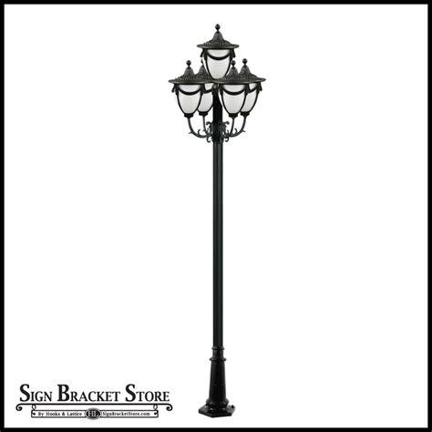 cast aluminum light post beautifying l post 5 ls exterior lighting