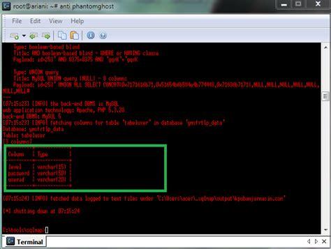 tutorial deface menggunakan sqlmap sql injection dengan bantuan sqlmap hacking deface