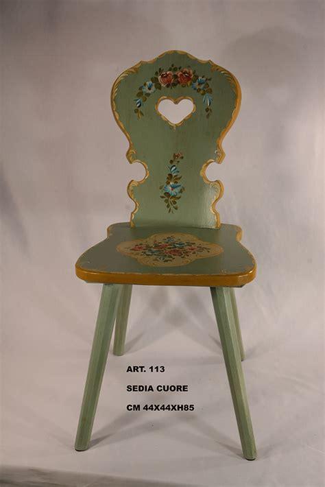 sedie decorate sedia cuore decorata
