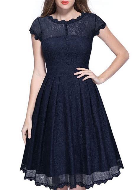 sleeve a line lace dress fashion sleeve lace a line pleated dress novashe