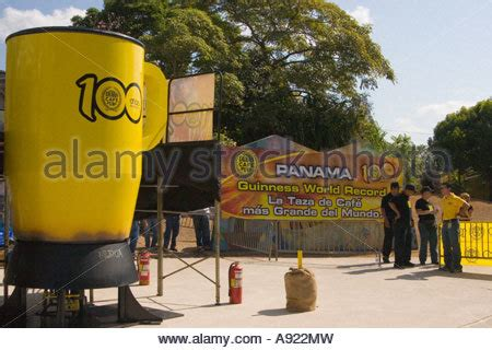 Panama City Records Guinness Records Largest Cup Of Coffee Cafe Duran Panama City Stock Photo Royalty