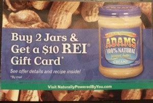 buy 2 adams peanut butter 10 rei gift card thrifty nw mom - Can I Buy Rei Gift Cards At Safeway