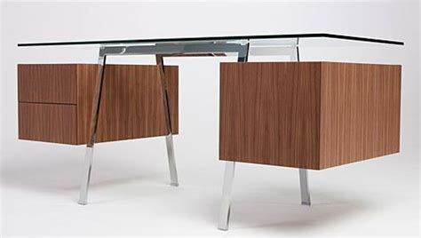 Furniture Fashionhomework Desk Series From Bensen Modern Glass Desk With Drawers