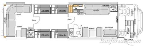 prevost floor plans busforsale com