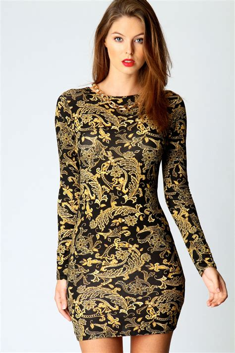 baroque dress with long sleeves christmas party