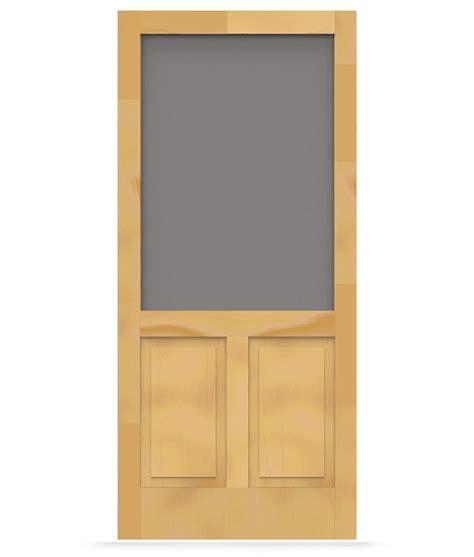Which Is Better Vinyl Or Aluminum Screen Door - pioneer wood screen door screen tight wood and solid