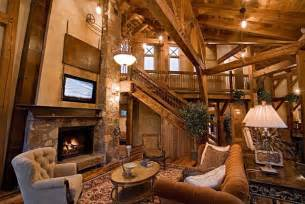French Country Style Homes Interior by Timber Frame Great Room