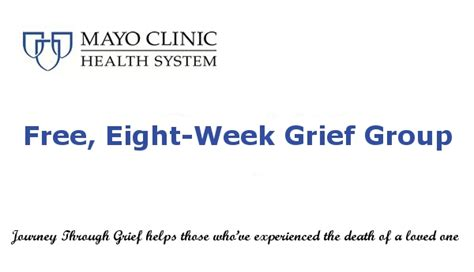 mayo clinic cover letter mayo clinic health system offers free eight week grief