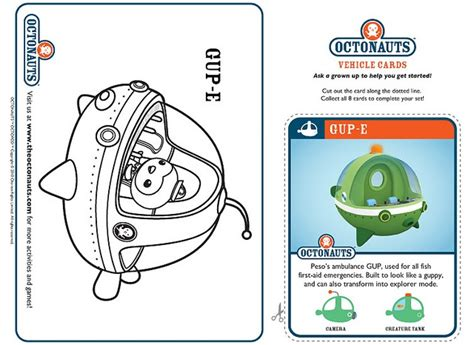 Gup X Coloring Page by 83 Best Images About Octonauts On Toys