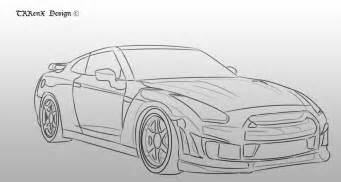 How To Draw A Nissan Gtr Nissan Skyline R35 Sketch By Trrenx On Deviantart