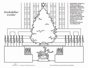 rockefeller christmas coloring page educationcom