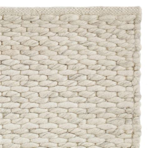 wool rug romo rug cream natural