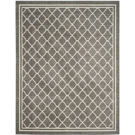 10 x 14 outdoor area rugs safavieh amherst gray beige 10 ft x 14 ft indoor outdoor area rug amt422r 10 the home depot