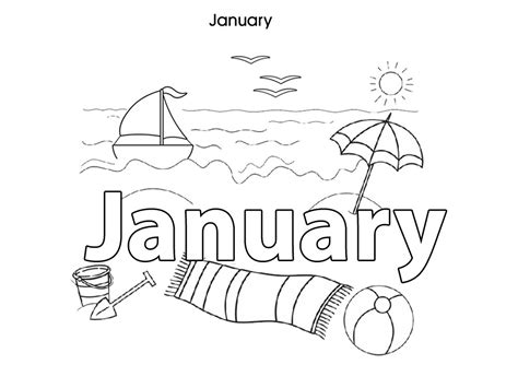 fun january coloring pages january is fun worksheet coloring pages for january month