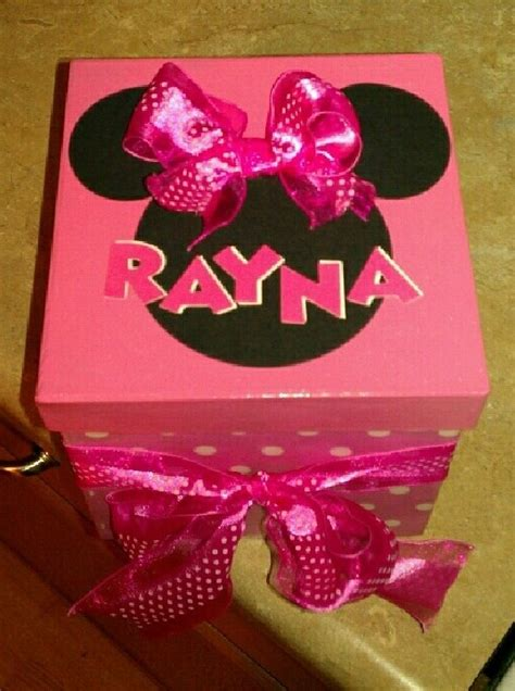 Minnie Mouse Box by Minnie Mouse Box For A Bday Gift Crafts I Made