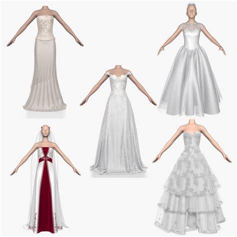 3d model designer 3d model wedding dress