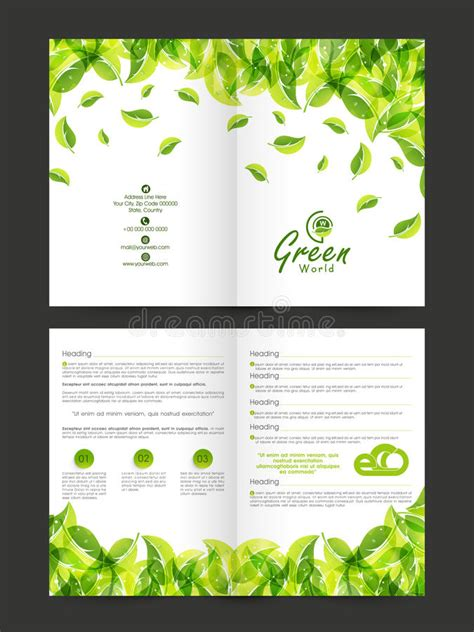 nature brochure template or flyer design stock stylish nature flyer or brochure design stock