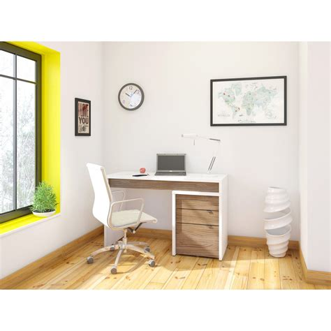 Desk File Cabinet by Nexera Liber T Computer Desk With Filing Cabinet White