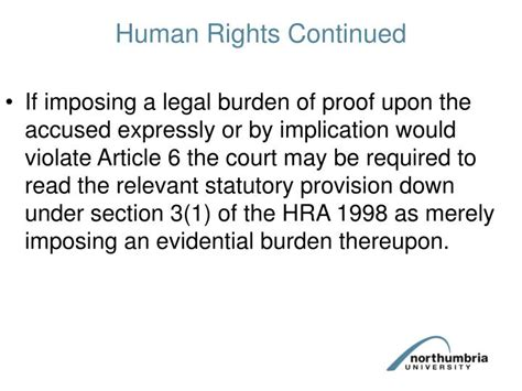 hra 1998 section 6 ppt burden and standard of proof in criminal proceedings