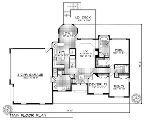 1700 sq ft house plans traditional style house plan 3 beds 2 5 baths 1700 sq ft plan 70 175
