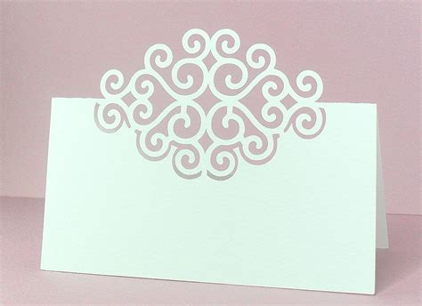 cricut place card template place cards 4 free cut file