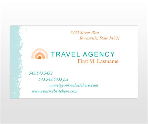 travels visiting card templates travel business cards images