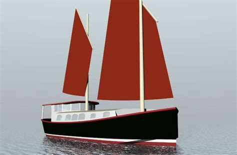 house barge plans 48 steel sailing house barge sail boat designs by tad roberts