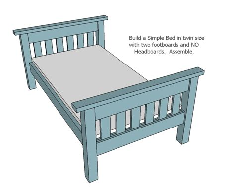 twin bed plans ana white twin over full simple bunk bed plans diy