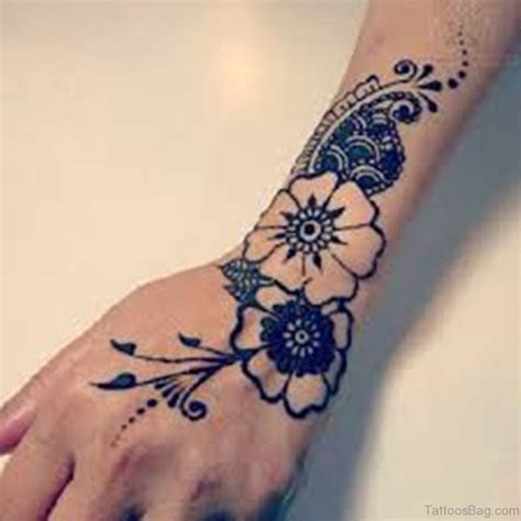 flower hand tattoos 50 flower tattoos on