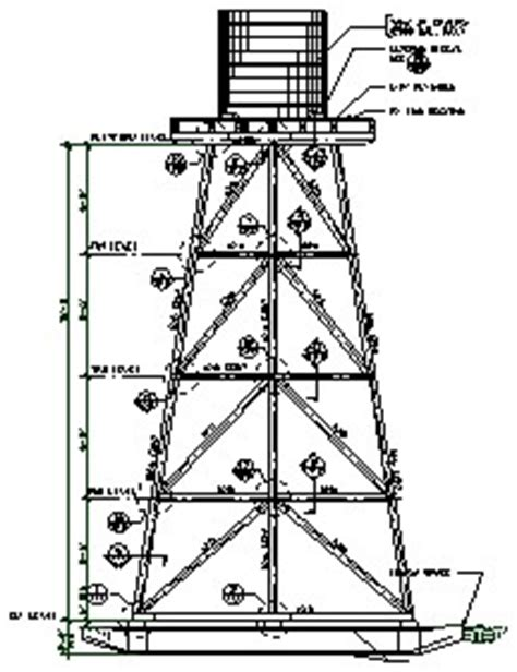 How To Make A Water Tower With Paper - water towers engineered plans for 4 story open framed tower