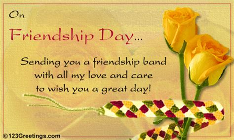 friend greetings all my care free friendship band ecards