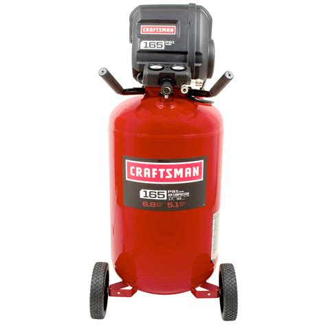 craftsman 33 gallon 1 7 hp free vertical air compressor 165 max psi